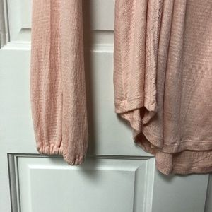 long sleeve pink lace